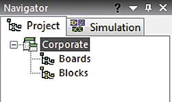 Структура нового проекта в окне Navigator