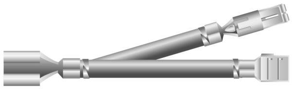 Обжатие наконечников на трех концах провода