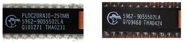 У контрафактной микросхемы маркировка более полная и нанесена аккуратнее, без перекоса