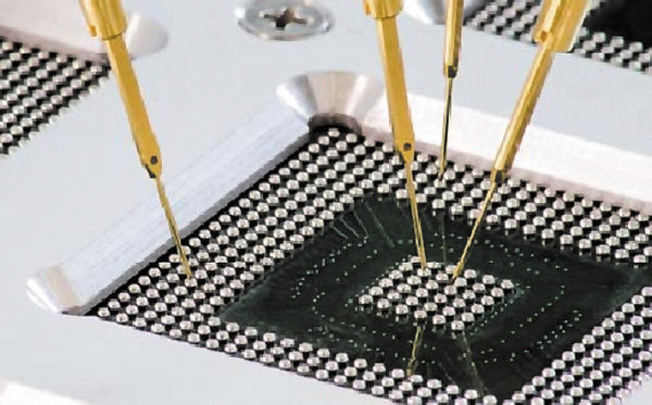 Тестирование микросхемы в корпусе BGA на установке с «летающими» пробниками SPEA4060 (режим входного контроля)