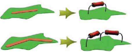 Примеры замены печатных проводников эквивалентами пассивных сопротивлений