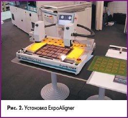 Установка для печатных плат ExpoAligner на Productronica
