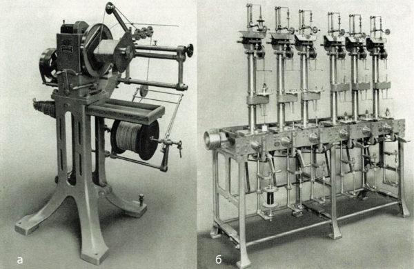 Намоточные машины компании Froitzheim und Rudert (F.U.R.), разработанные в начале 1920-х годов