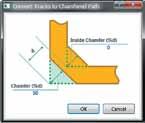 Диалоговое окно параметров фаски