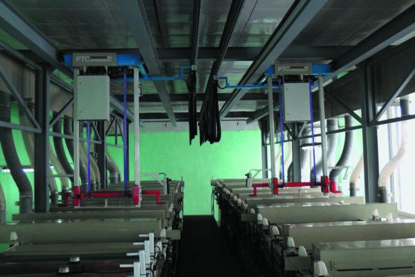 Химико-гальваническая линия с подвесными автооператорами