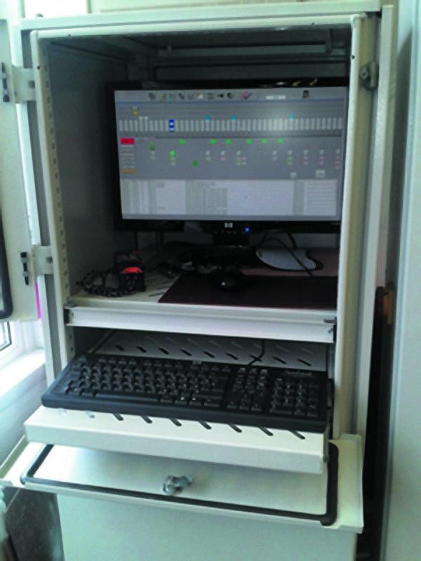 Шкаф с компьютером управления
