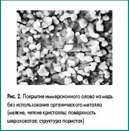 Покрытие иммерсионного олова на медь без использования органического металла