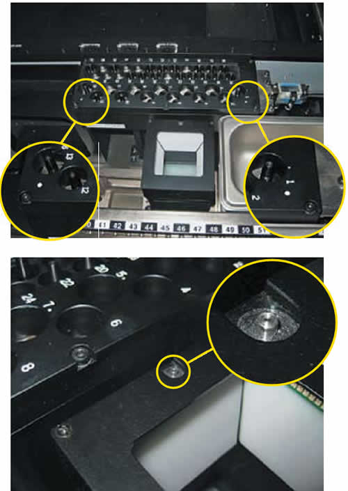 Реперные точки для калибровки автомата в режиме реального времени автомата SM-421