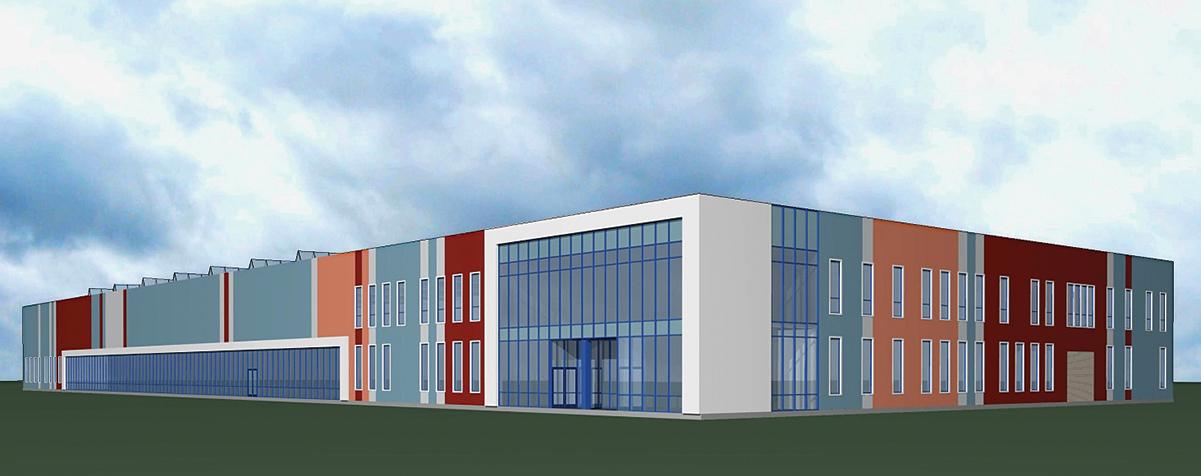 Архитектурное решение основного производственного здания