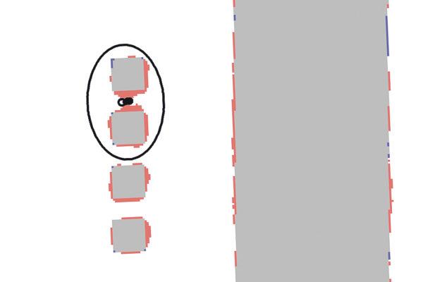Наложение скана и эталона