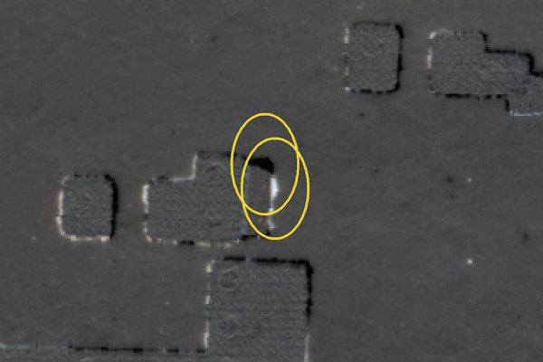 Дефект площадки, обнаруженный прямым сравнением двух керамических листов