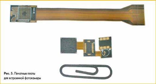 Печатные платы для встроенной фотокамеры