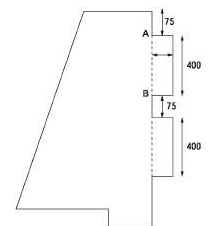Добавление выступов на правый сегмент печатной платы в CADSTAR