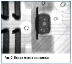 Рис. 3. Паяное соединение с порами