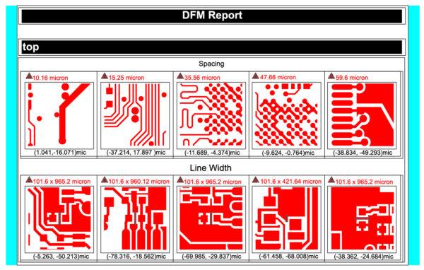 Фрагмент отчета InSight PCB-программы