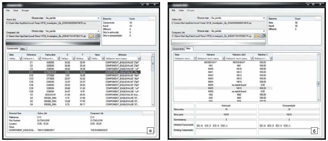 Окно плагина Database Compare
