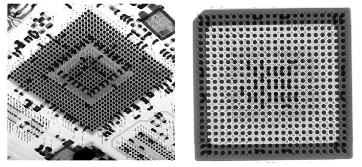 Рентгенофотография паяных соединений