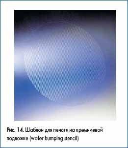 Шаблон для печати на кремниевой подложке