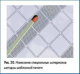 Нанесение специальных материалов методом шаблонной печати