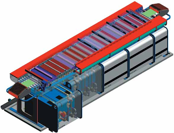 ЗD-модель линии мокрых процессов компании Cemco