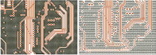 Применение сетчатых и точечных полигонов на внутренних слоях МПП