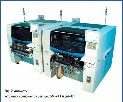 Автоматы установки компонентов Samsung SM-411 и SM-421
