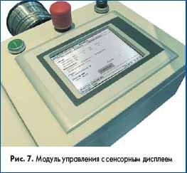 Модуль управления с сенсорным дисплеем