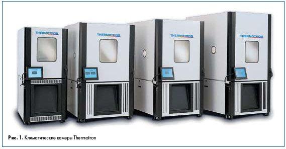 Рис. 1. Климатические камеры Thermotron