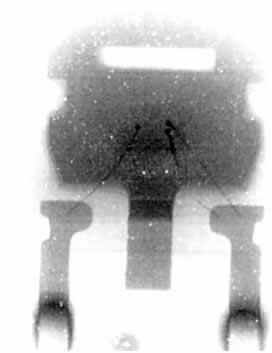Изображение исследуемого образца (рис. 9), полученное с помощью рентгеновской трубки закрытого типа