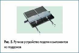 Ручное устройство подачи компонентов из поддонов