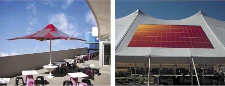 Гибкие органические солнечные батареи производства компании Konarka)