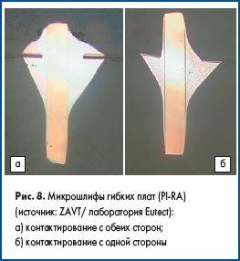 Микрошлифы гибких печатных плат (PI-RA)