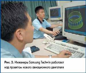 Инженеры Samsung Techwin работают над проектом нового авиационного двигателя