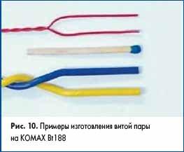 Примеры изготовления витой пары на KOMAX Bt188