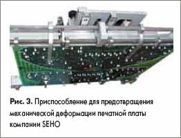 Приспособление для предотвращения механической деформации печатной платы компании SEHO