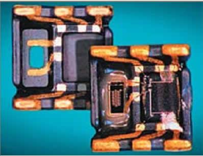 Датчик давления на 3D литом монтажном основании размером 4x4x1,5 мм
