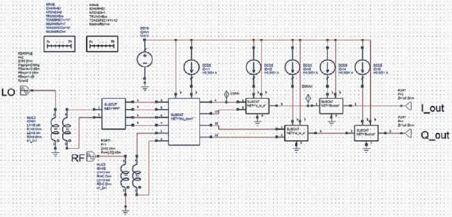 QPSK-приемник, состоящий из 130 транзисторов и более 100 пассивных элементов