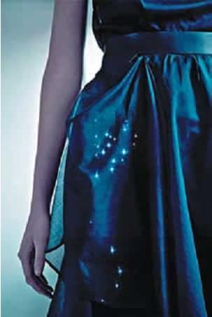 Платье со встроенными светодиодами