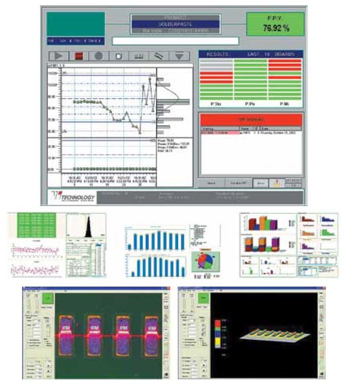 Примеры представления данных статистического управления процессом трафаретной печати