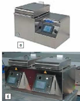 Настольная установка сушки фоторезиста: а)с одной плитой; б)с двумя плитами и независимым управлением