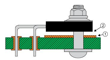 Теплоотвод установлен с большим зазором