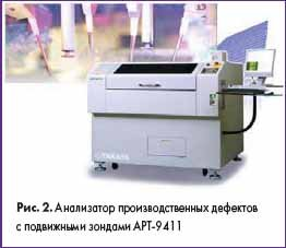 Анализатор производственных дефектов с подвижными зондами АРТ-9411