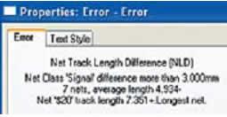 Свойства маркера ошибки при превышении максимальной разницы длин цепей