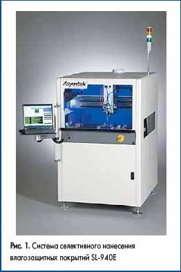 Система селективного нанесения влагозащитных покрытий SL-940E