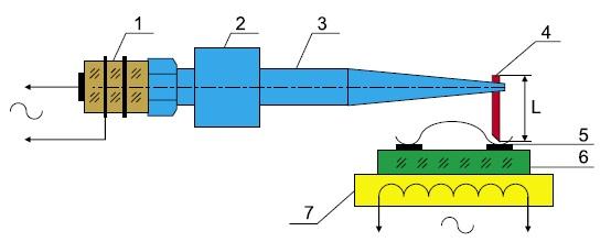 Схема УЗ-системы микросварки