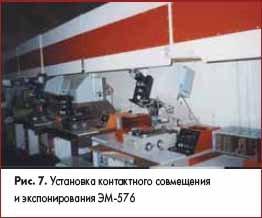 Установка контактного совмещения и экспонирования ЭМ-576