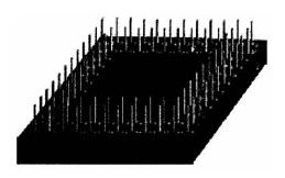Типичный корпус с матричным расположением штырьковых выводов (PGA-корпус)