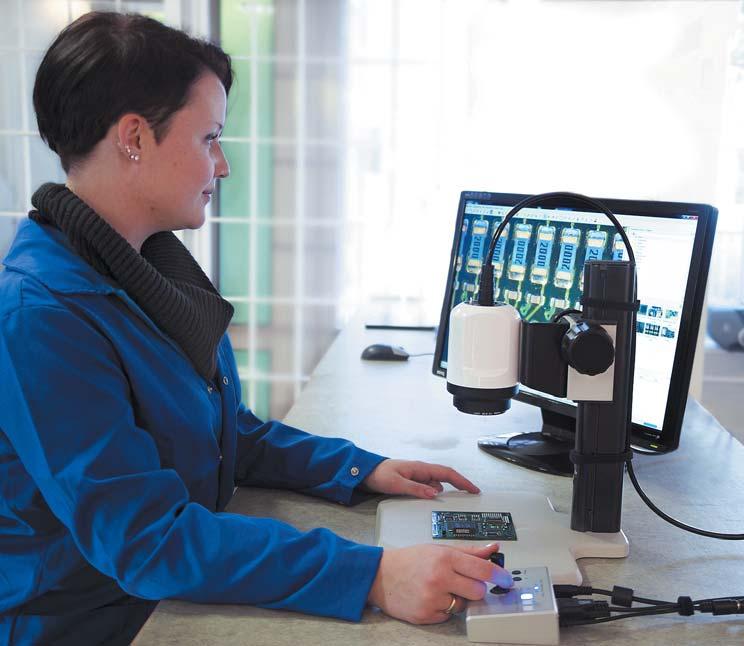 Управление видеомикроскопомW10-HD спомощью пульта