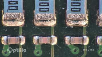 Пример изображения— отсутствие полной смачиваемости контактов компонентов