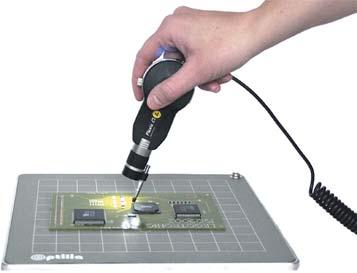 Применение видеомикроскопа Flexia без штатива